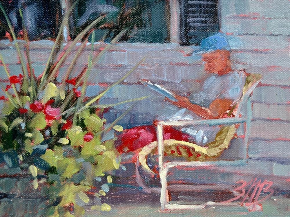 """""""Afternoon Break"""" original fine art by Brienne M Brown"""