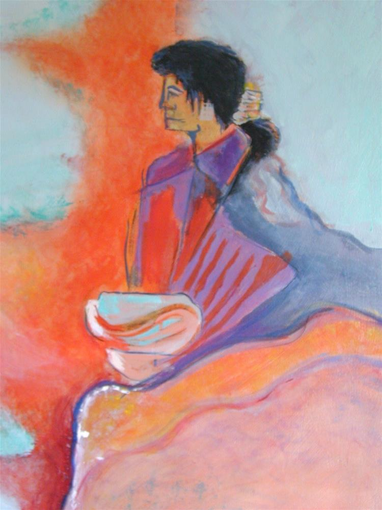 """""""Food for thought"""" original fine art by Barbara Lemley"""