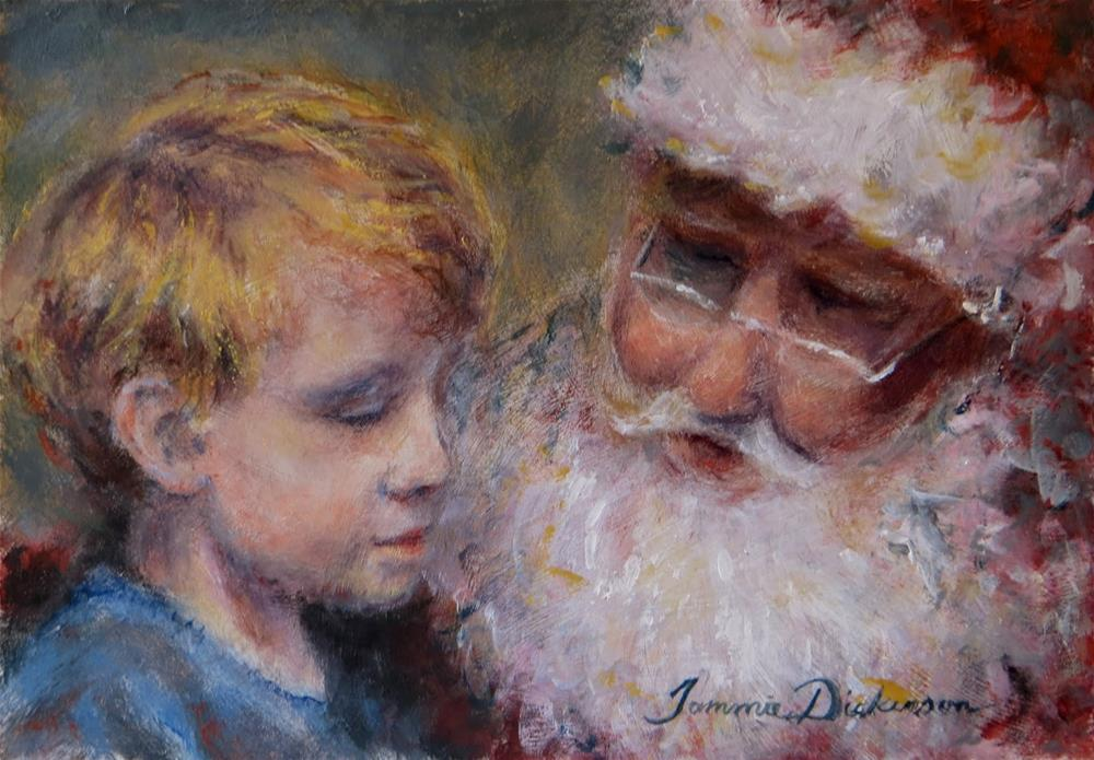 """""""A Visit with Santa"""" original fine art by Tammie Dickerson"""