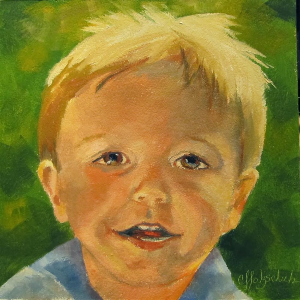 """""""Chosen Child"""" original fine art by Christine Holzschuh"""