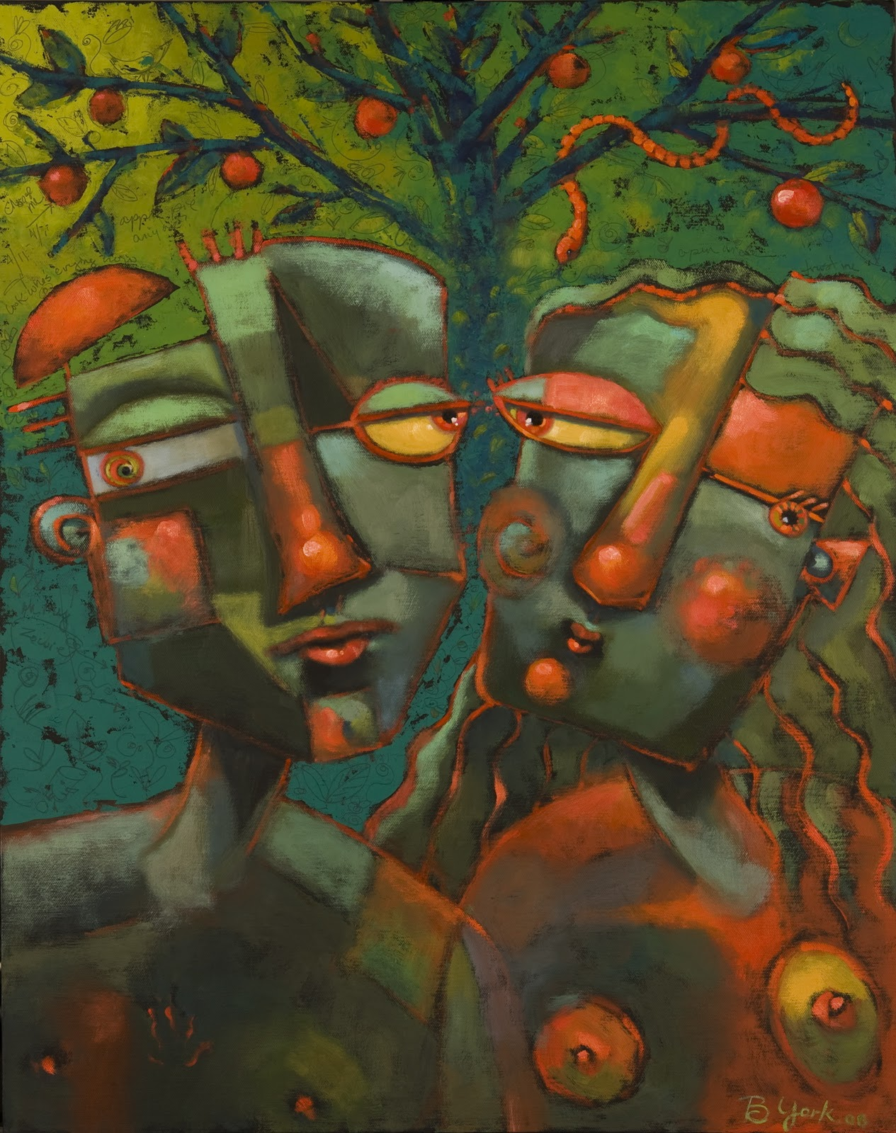 """A Spot Of Bother In The Garden"" original fine art by Brenda York"