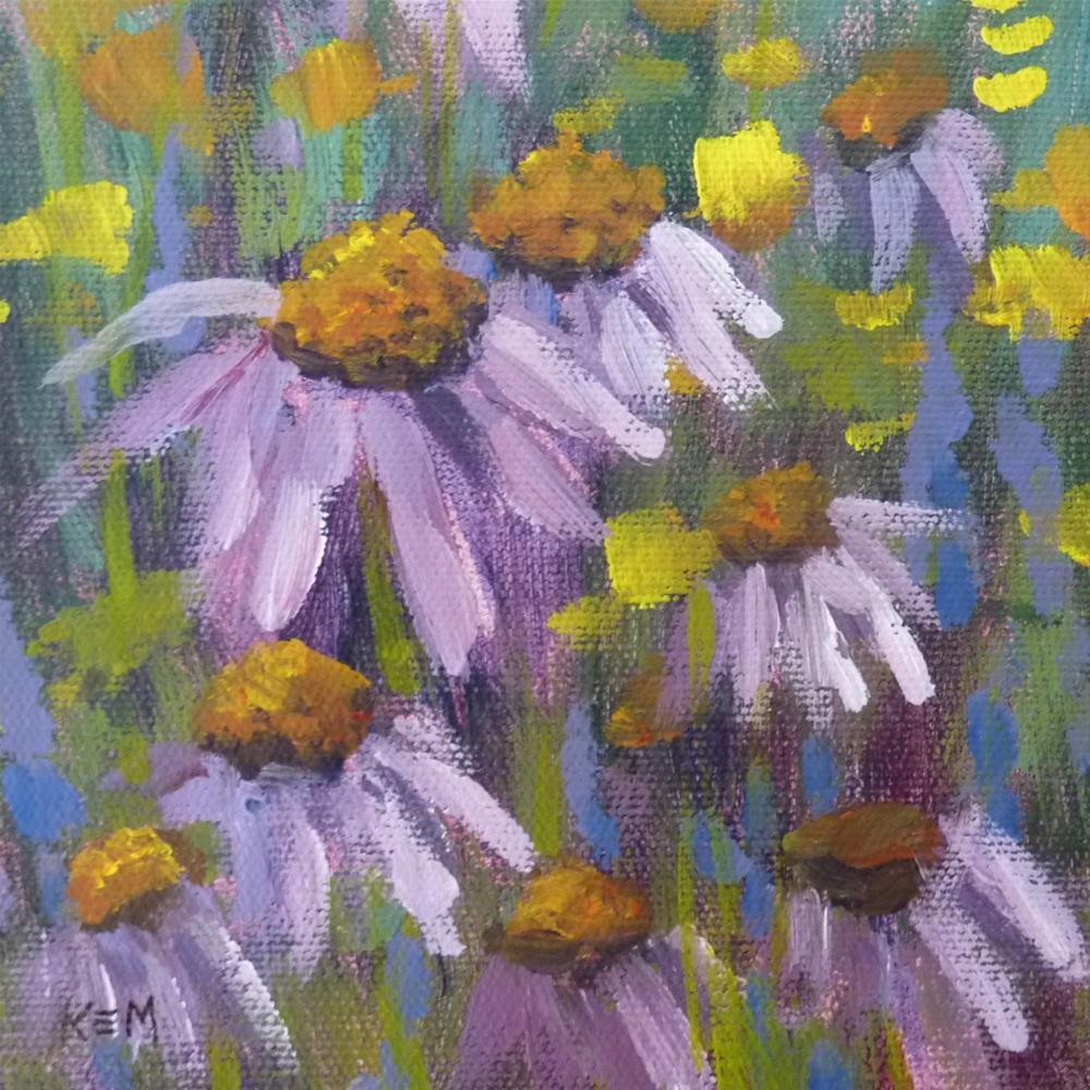 """Purple Coneflowers"" original fine art by Karen Margulis"