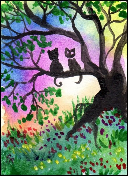 """""""Tree in the Enchanted Forest"""" original fine art by Patricia Ann Rizzo"""