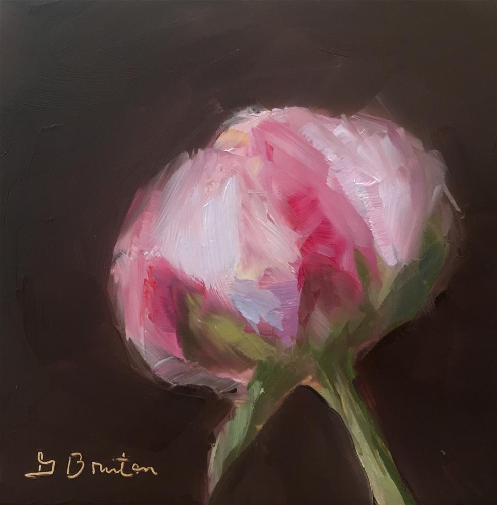 """Pink Peony Bud"" original fine art by Gary Bruton"