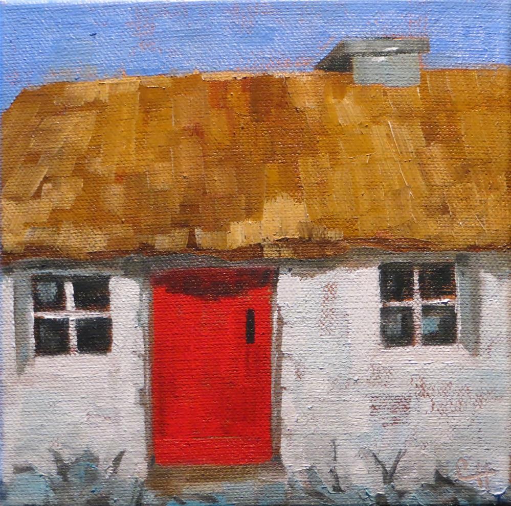 """""""Irish Cottage"""" original fine art by Claire Henning"""