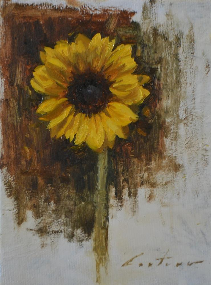 """""""Sunflower Study"""" original fine art by Phil Couture"""