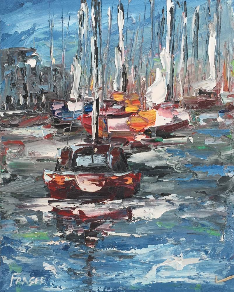 """""""Port Charlotte"""" original fine art by Ken Fraser"""