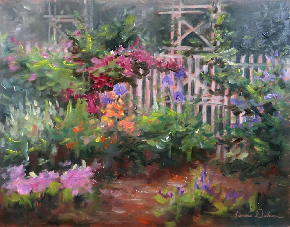 """Magic in the Garden"" original fine art by Tammie Dickerson"