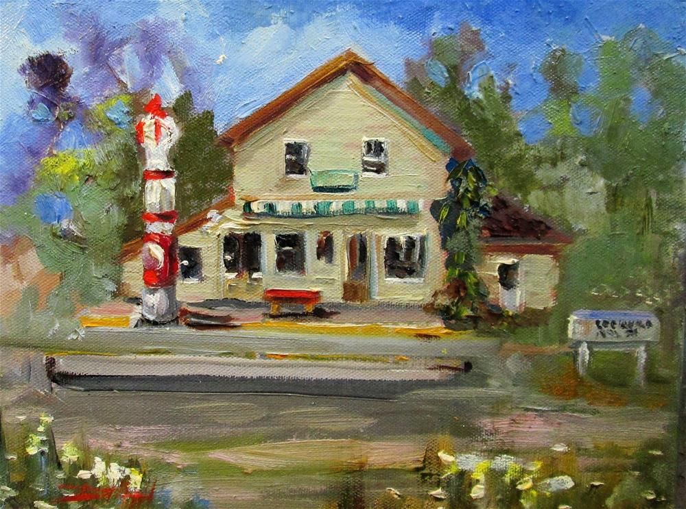 """Old Gas Station"" original fine art by Delilah Smith"