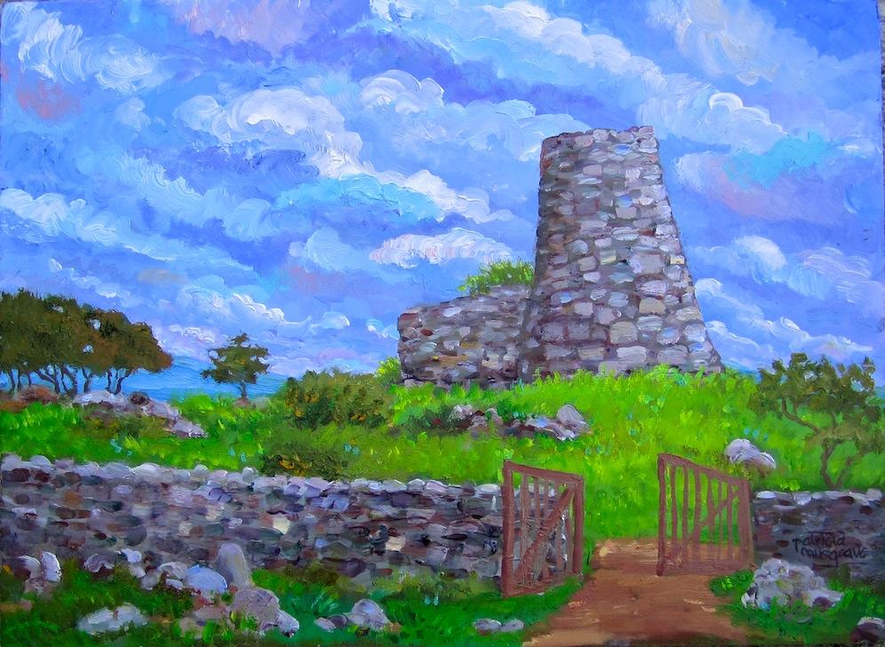 """Nuraghe Orolo, Sardinia"" original fine art by Patricia Musgrave"