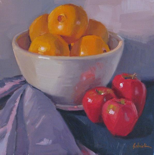 """Apples and Oranges"" original fine art by Sarah Sedwick"