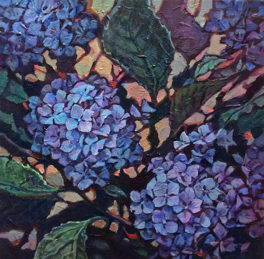 """Blow out pricing Hydrangea"" original fine art by Nicoletta Baumeister"