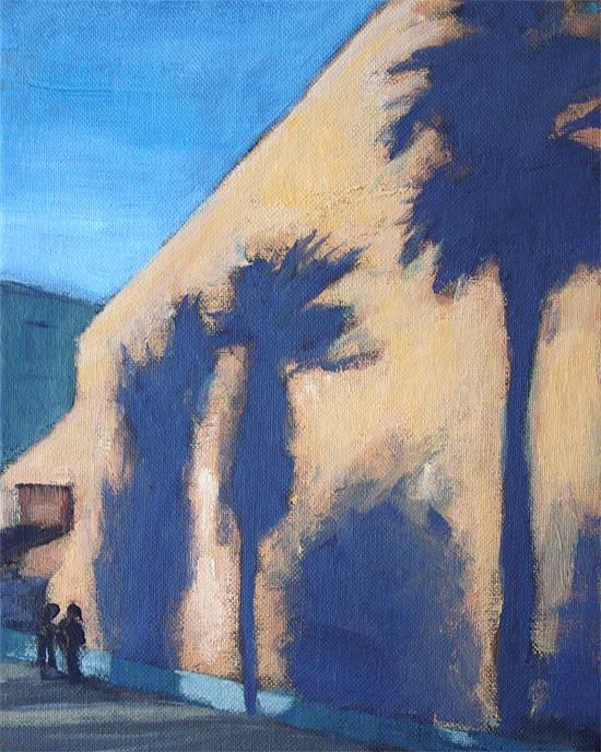 """""""SJ Palms"""" original fine art by J. Farnsworth"""