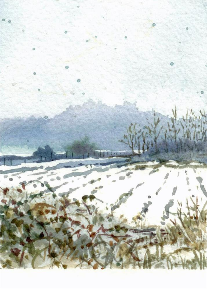 """Snow This Afternoon"" original fine art by Nicoletta Baumeister"