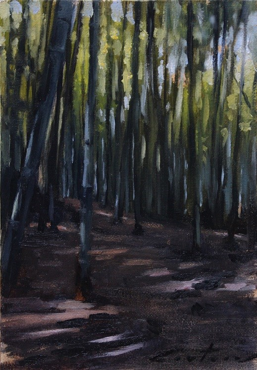 """""""Kansai Bamboo Forest"""" original fine art by Phil Couture"""