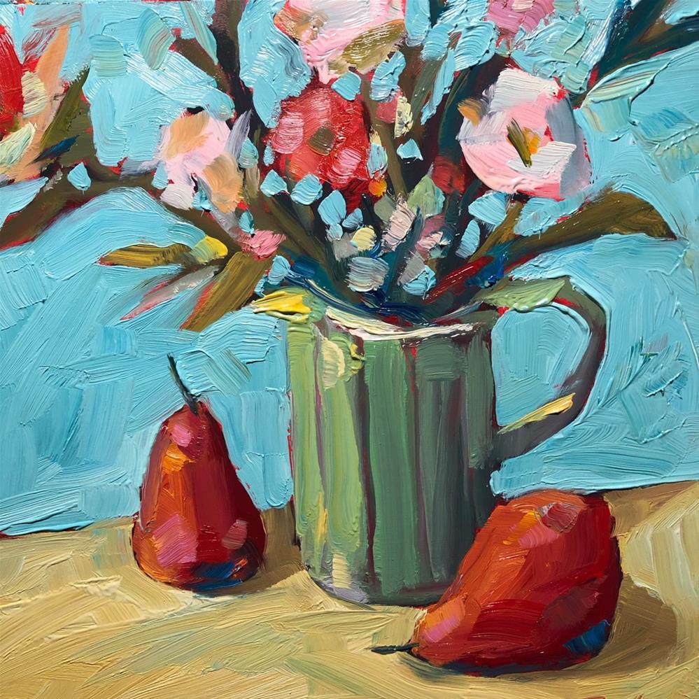 """1259: Sneaky Pears"" original fine art by Brian Miller"