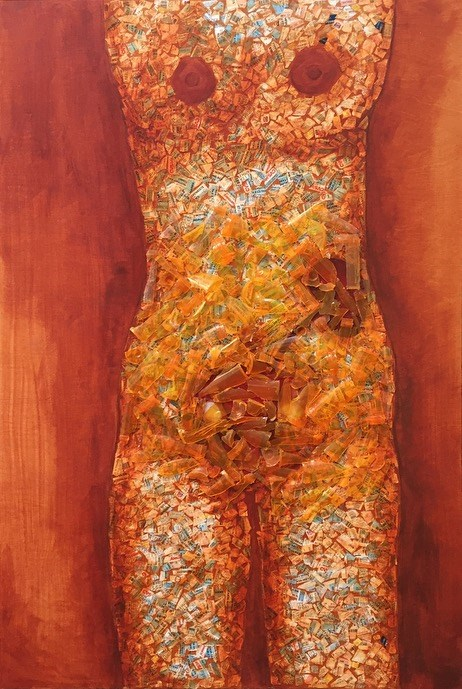 """""""Uterus Armor"""" original fine art by Madeleine Hoffmeister"""