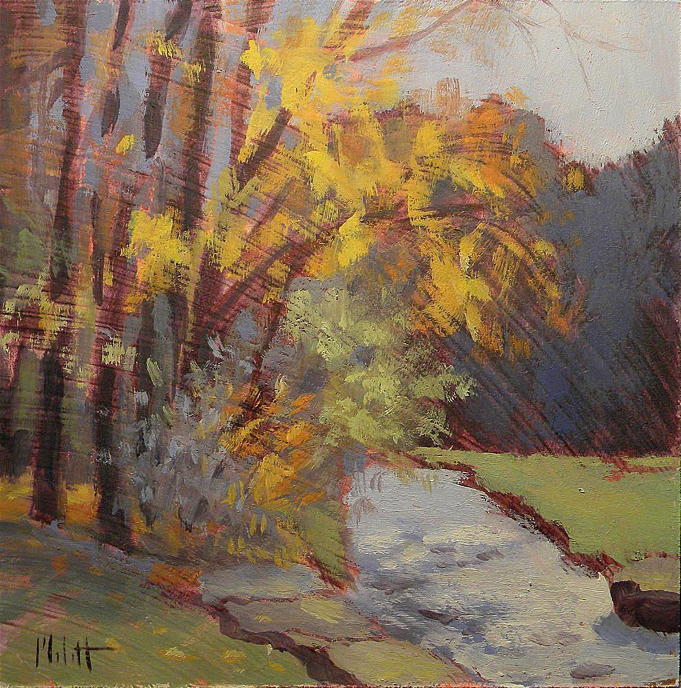 """Autumn Impressionism Spring Mill State Park Oil Painting"" original fine art by Heidi Malott"