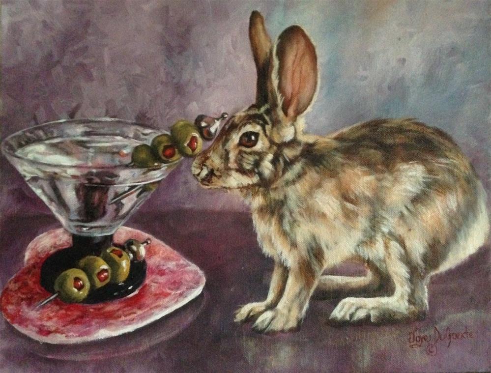 """Rabbitini (c) by Joye DeGoede"" original fine art by Joye DeGoede"