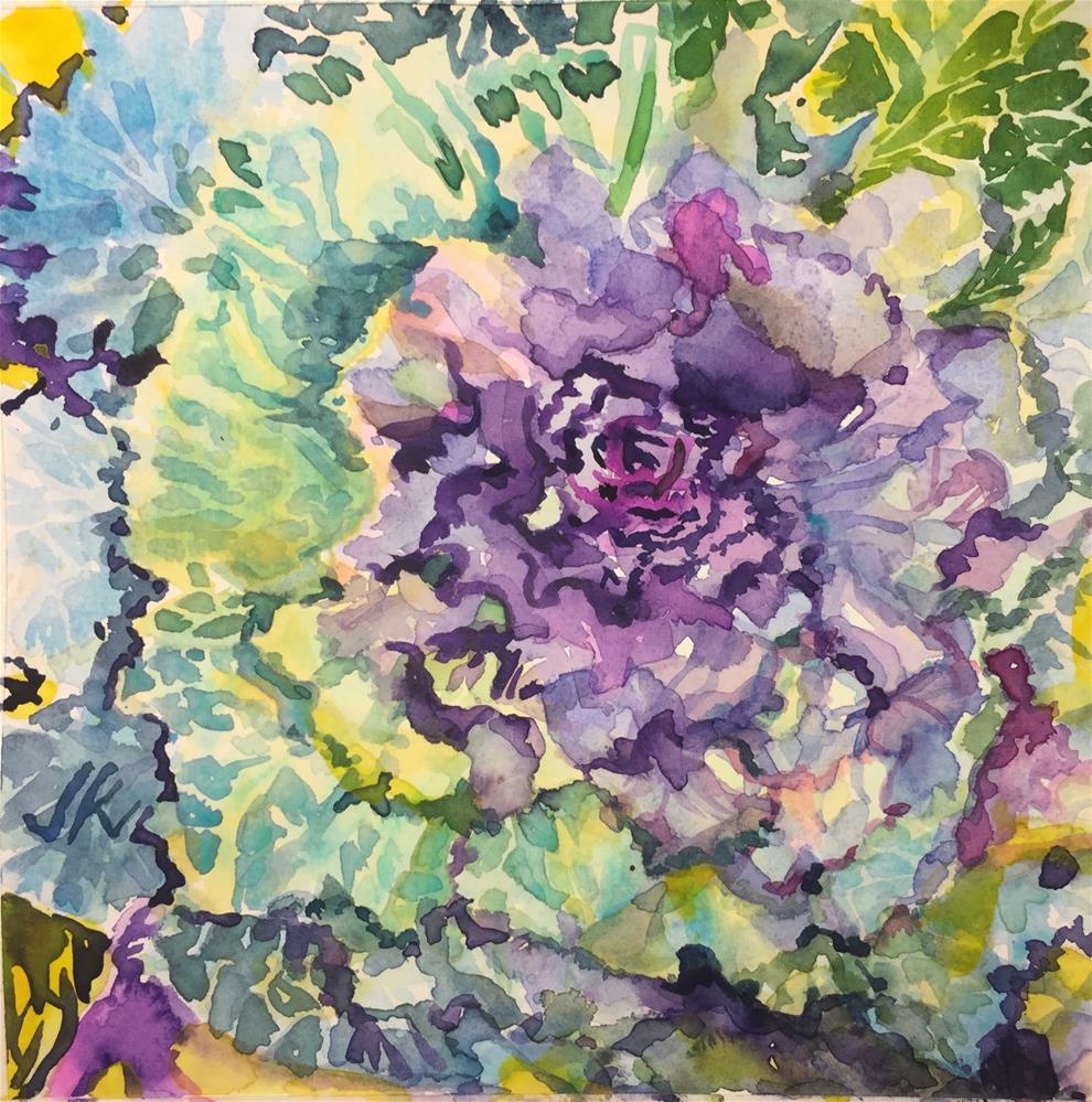 """""""Kale"""" original fine art by Jean Krueger"""