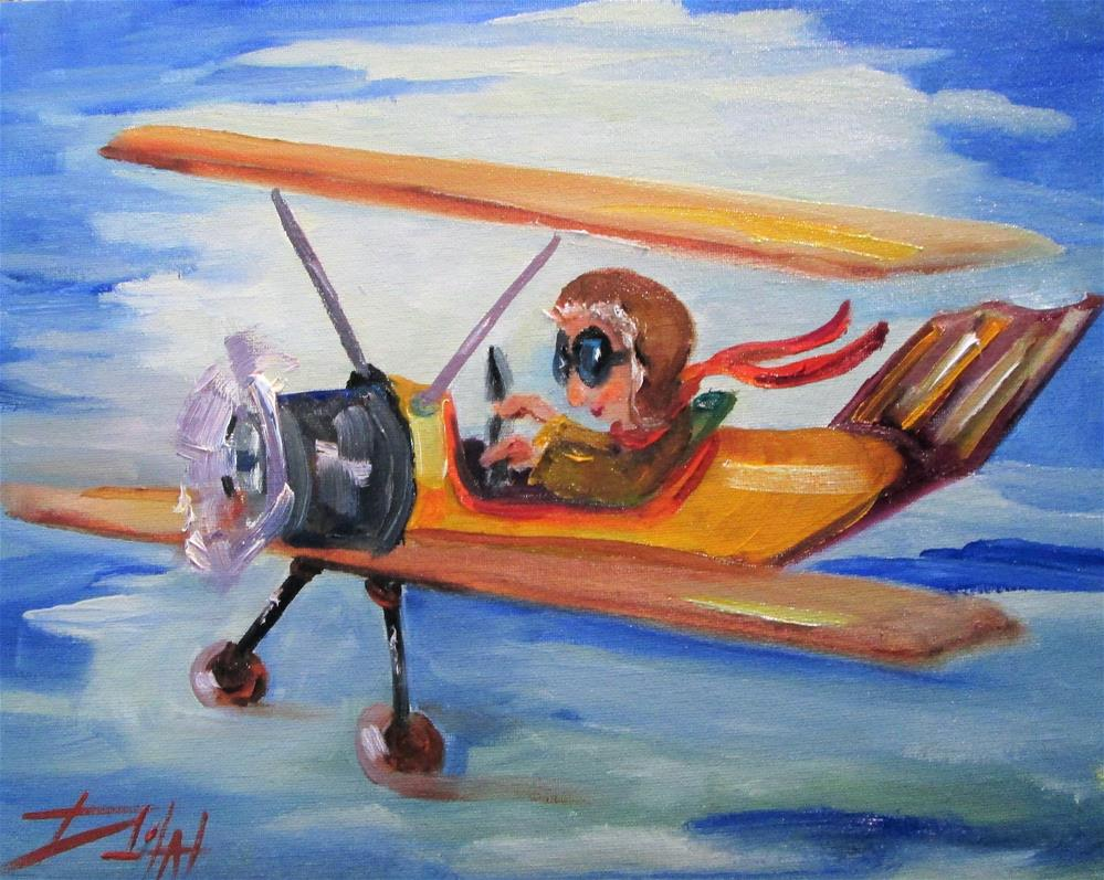 """Airplane"" original fine art by Delilah Smith"