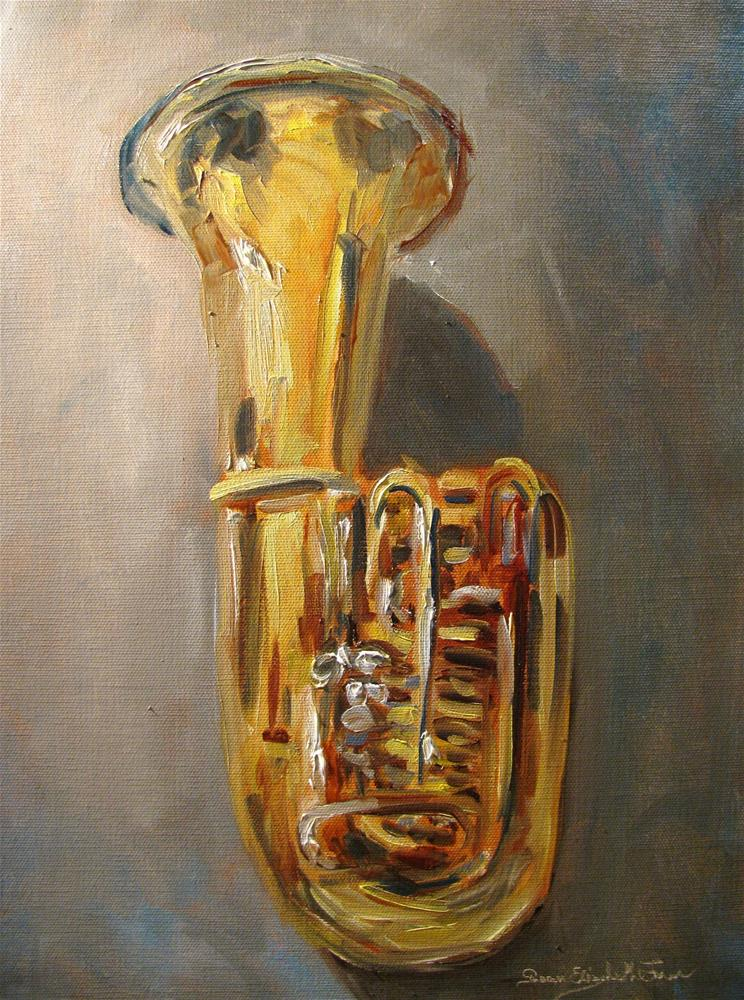 """Tuba"" original fine art by Susan Elizabeth Jones"