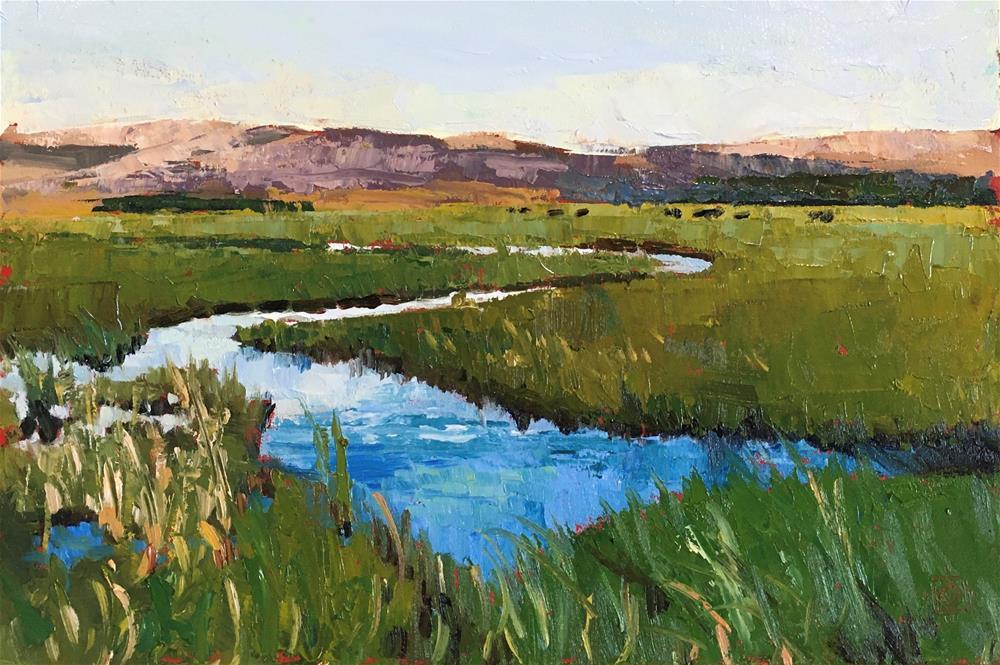 """Spring Stream"" original fine art by Carol Granger"