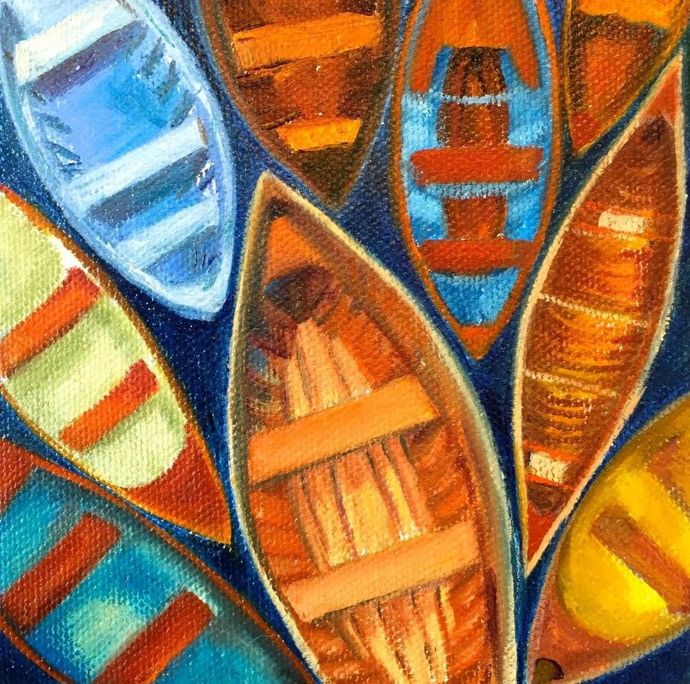 """Rafting"" original fine art by Jill Bates"