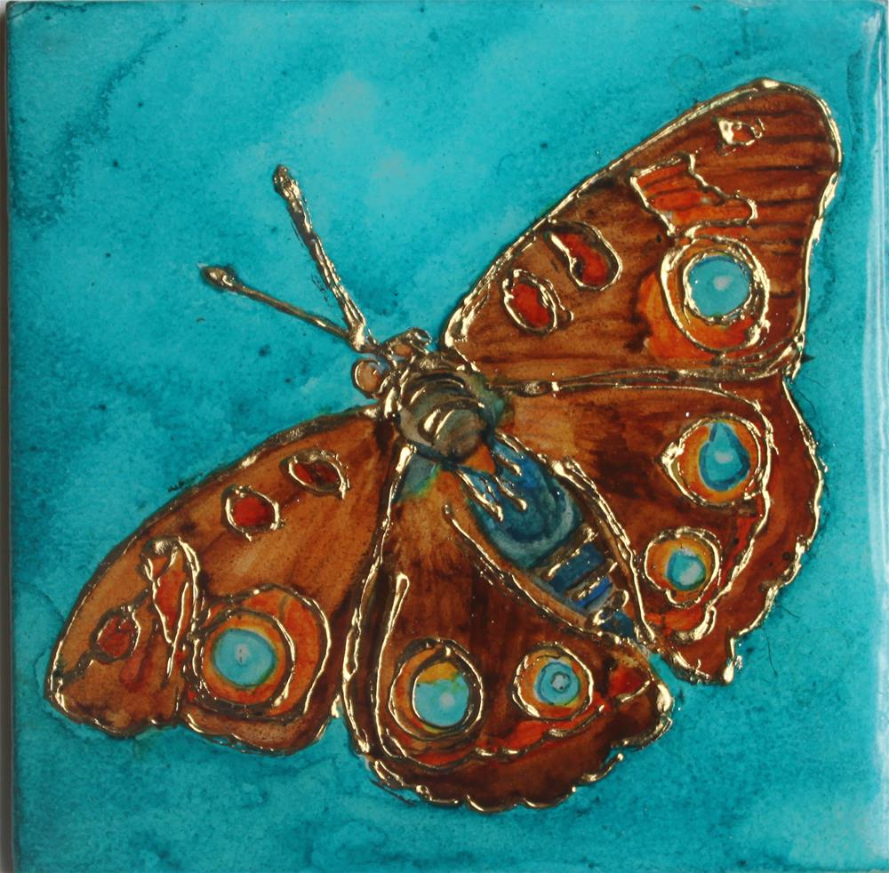 """Nature's Jewel Miniature - Butterfly 3"" original fine art by Christiane Kingsley"