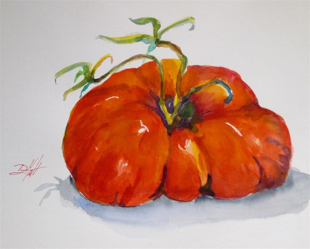 """""""Fat Tomato"""" original fine art by Delilah Smith"""