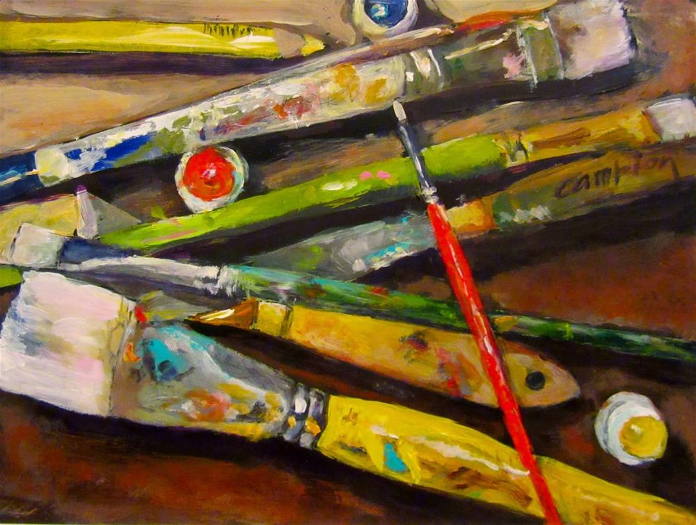 """500  This Artist's Tools"" original fine art by Diane Campion"