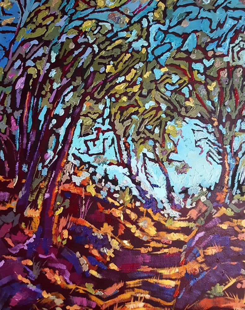 """Tangled Trees Pathway"" original fine art by Bhavna Misra"