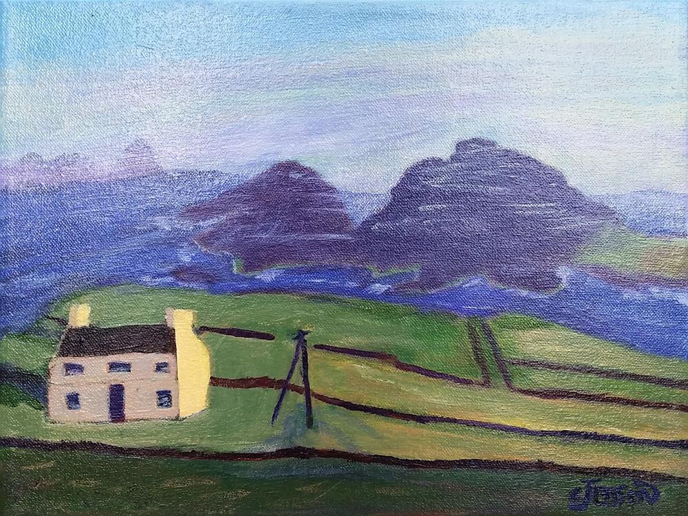 """The irish coastline"" original fine art by Cindy Jensen"