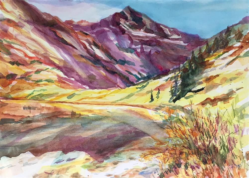 """Lower Comanche Lake, CO"" original fine art by Jean Krueger"