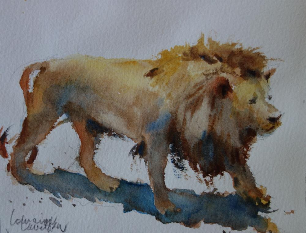 """King"" original fine art by Lorraine Lewitzka"
