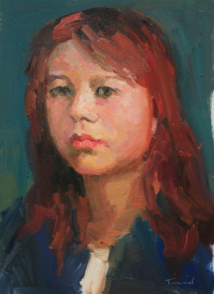 """Portrait Study #5"" original fine art by Kathryn Townsend"