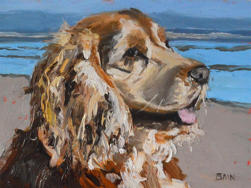 """Beach Blonde"" original fine art by Peter Bain"