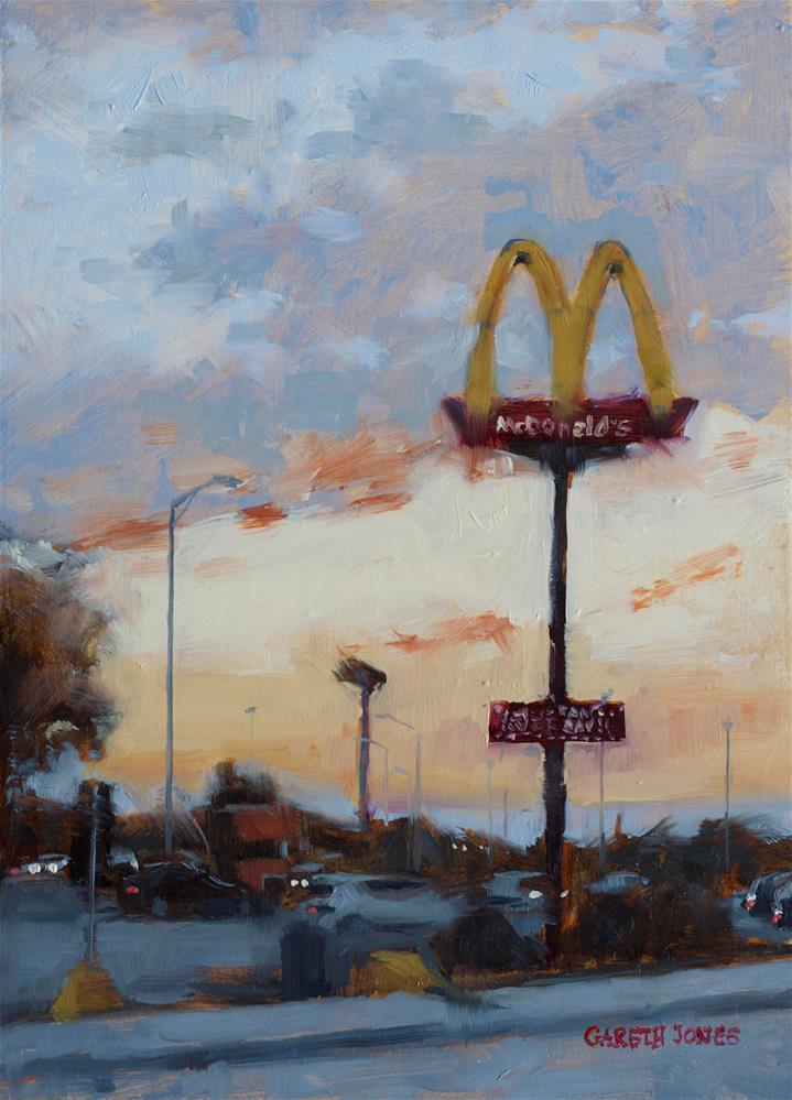 """McDonalds"" original fine art by Gareth Jones"