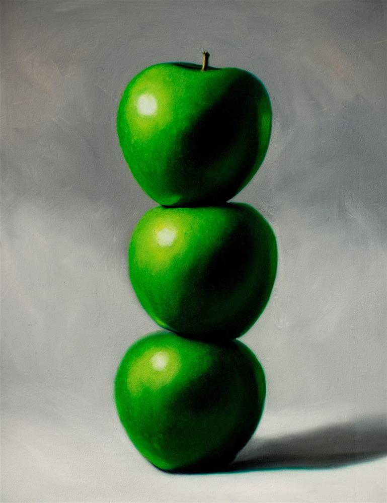 """""""Apple Trio Tower"""" original fine art by Lauren Pretorius"""