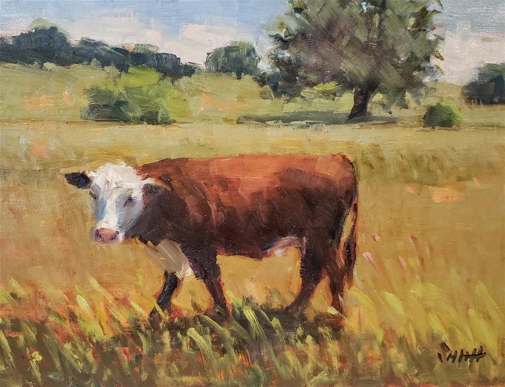 """A Cow's Life"" original fine art by Barbie Smith"