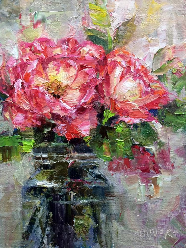 """""""Roses From A Friend"""" original fine art by Julie Ford Oliver"""