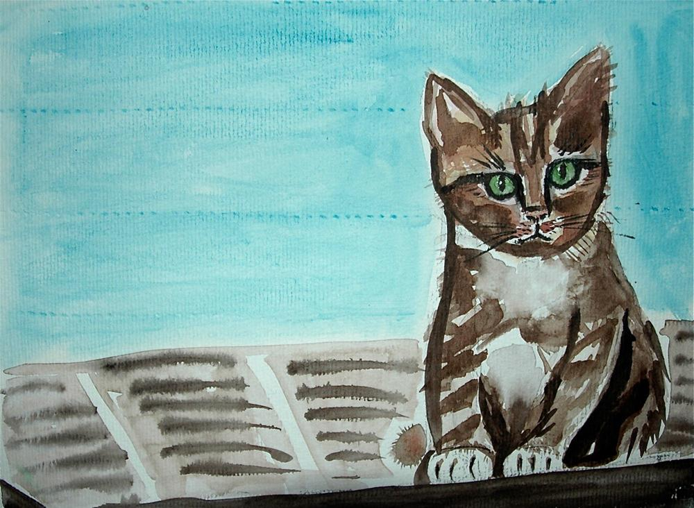"""Sitting on the roof of the Olympic stadium ..."" original fine art by Ulrike Schmidt"