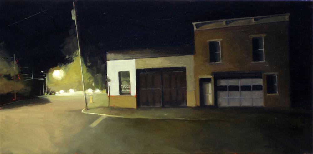 """Hudson nocturne"" original fine art by Dan Graziano"
