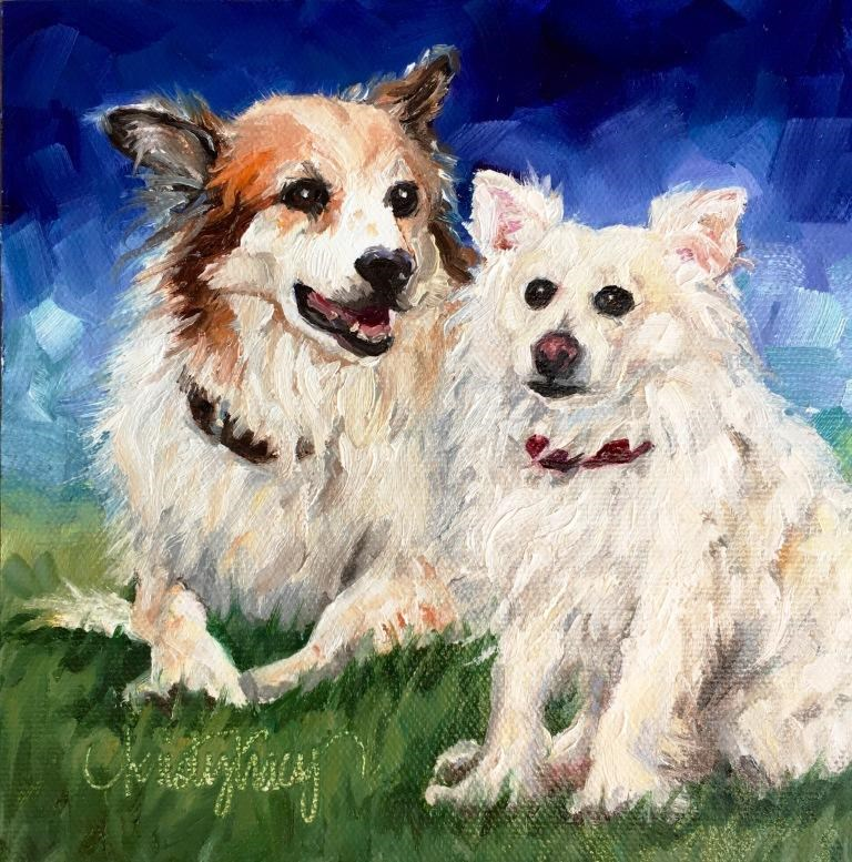 """DOTTIE & KIMBO"" original fine art by Kristy Tracy"