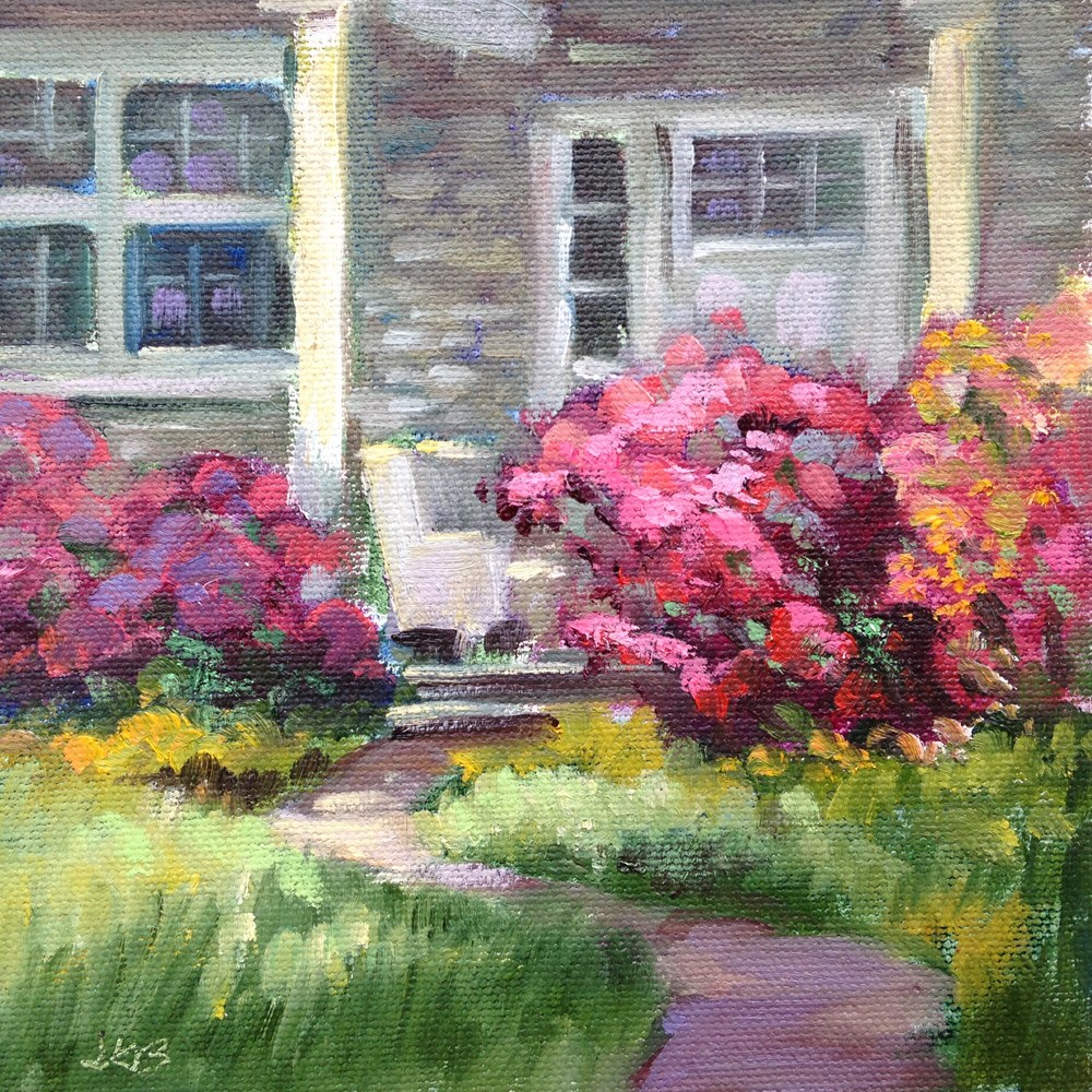 """Waiting for Evelyn"" original fine art by Jeanne Bruneau"