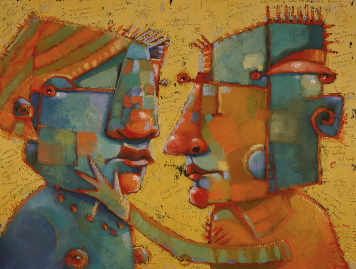 """Heartquakes And Jive"" original fine art by Brenda York"