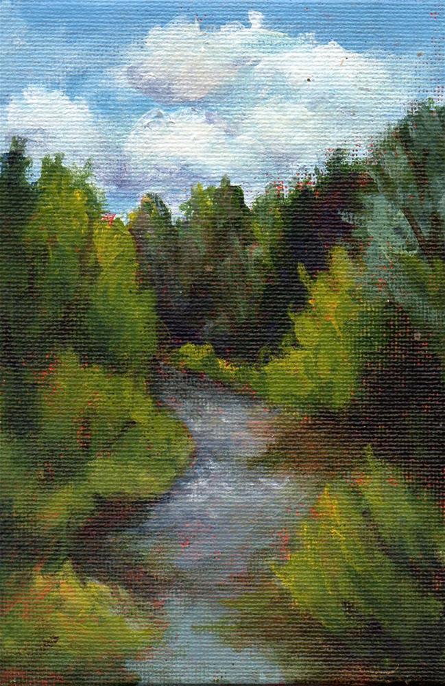 """""""Sebois River"""" original fine art by Debbie Shirley"""