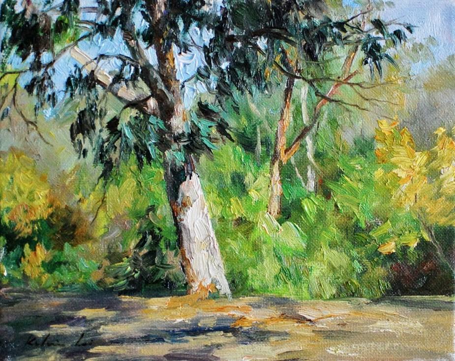 """""""Gentle Breeze"""" original fine art by Kelvin Lei"""
