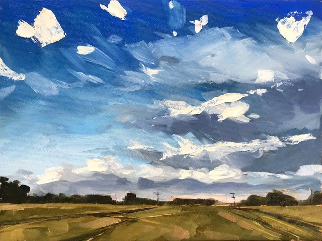 """Colorado Skyscape - 9x12"" original fine art by Sharon Schock"