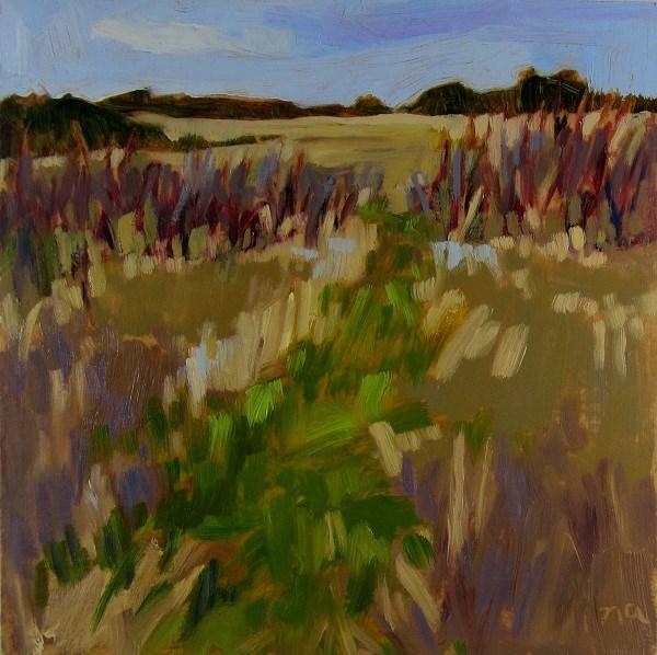 """""""Deer Trail In Spring"""" original fine art by Nicki Ault"""
